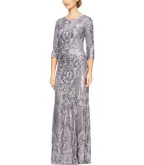 alex evenings sequined mermaid gown