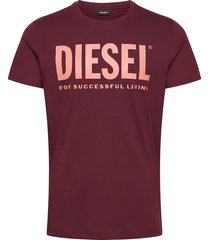 t-diego-logo t-shirt t-shirts short-sleeved röd diesel men