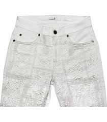 7 for all mankind women's malhia kent pieced skinny jeans, white