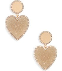 women's baublebar asimina drusy drop earrings