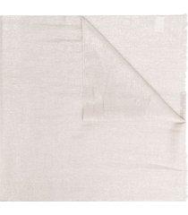 brunello cucinelli lightweight cashmere-blend scarf - neutrals