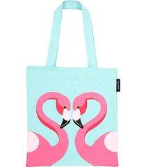 flamingo cotton canvas tote