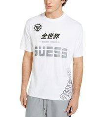 guess men's oversized tech logo t-shirt