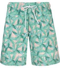 amiri leaf-print swim shorts - pink