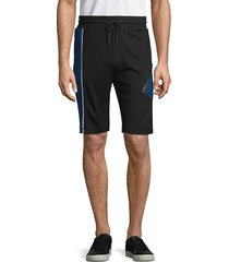 karl lagerfeld paris men's colorblock drawstring shorts - navy black - size xxl