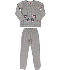 conjunto gris-rosa-negro bee loop