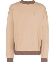 futur embroidered crew-neck sweatshirt - neutrals