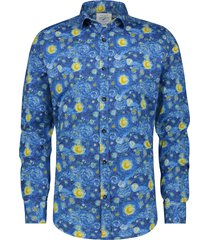 a fish named fred 21.01.013 overhemd van gogh night sky blue -