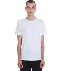 theory essential tee c t-shirt in white cotton