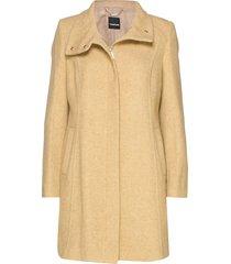 outdoorjacket wool wollen jas lange jas beige taifun