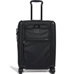 alpha continental dual access 4 wheel carry on suitcase