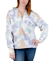 rebellious one trendy plus size tie-dyed hoodie
