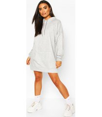 the perfect oversized hooded sweat dress, grey marl