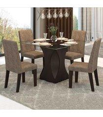 mesa de jantar 4 lugares jazz 11551 ameixa/malta - mobilarte móveis