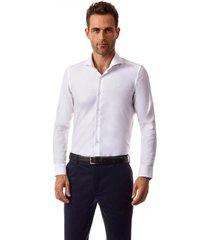 camisa manga larga barcelona blanco new man