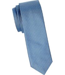textured silk slim tie