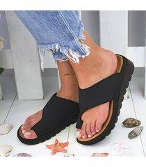 sandalias de punta grande para mujer