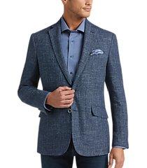 joseph abboud indigo blue modern fit sport coat blue tic