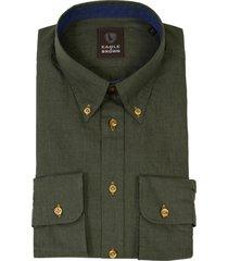 eagle & brown overhemd uni groen