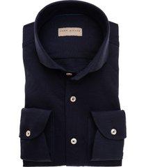 john miller overhemd effen tricot oxford cutaway slim fit
