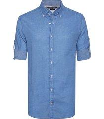 camisa azul tommy hilfiger tobert geo prt nf3