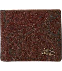 etro paisley logo wallet