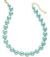 charter club imitation 14mm pearl collar necklace, created for macy's