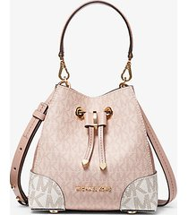 mk borsa a tracolla mercer gallery extra small con logo color block - ballet multi - michael kors