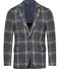 classic half-lined knitted blazer blazer colbert grijs scotch & soda