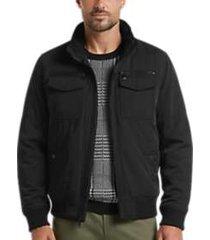 tommy hilfiger black classic performance modern fit bomber jacket