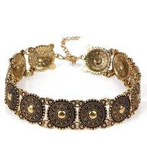 steampunk stone bead choker necklace