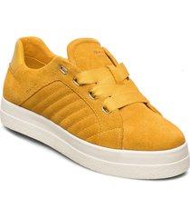 avona low lace shoes låga sneakers gul gant