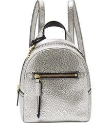 fossil megan mini metallic leather backpack
