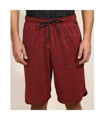 bermuda masculina esportiva ace com bolso vermelha escuro