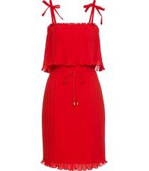 abito plissettato con spalline (rosso) - bodyflirt boutique