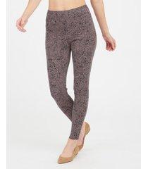 spanx cropped indigo knit tummy control leggings