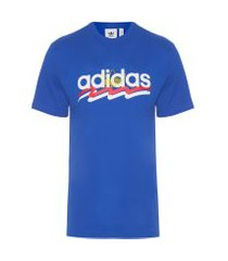t-shirt masculina short sleeve - azul