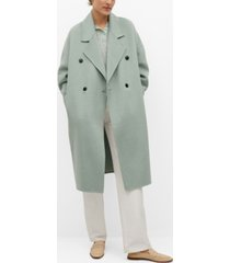 mango women's handmade wool coat