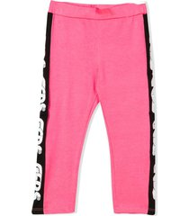 gcds pink cotton blend leggings