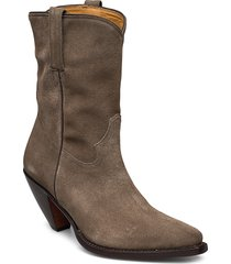 vidette shoes boots ankle boots ankle boots with heel grå rabens sal r