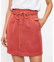 loft petite drawstring pocket skirt