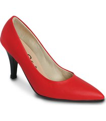 zapato tipo tacon stiletto - rojo