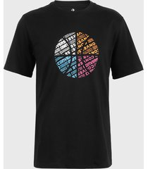 polera converse basketball wordmark graphic t-shirt negro - calce regular