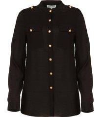 blouse met marineknopen koulamga  zwart