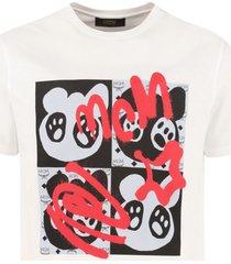 mcm printed cotton t-shirt