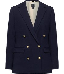 double-breasted blazer blazers casual blazers blauw gap