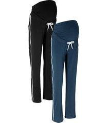 pantaloni prémaman in felpa (pacco da 2) (blu) - bpc bonprix collection
