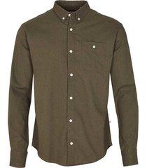 kronstadt johan linen shirt army ks3000
