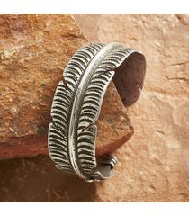 sterling feather cuff bracelet