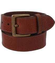 men's frye pebbled leather belt, size 34 - cognac